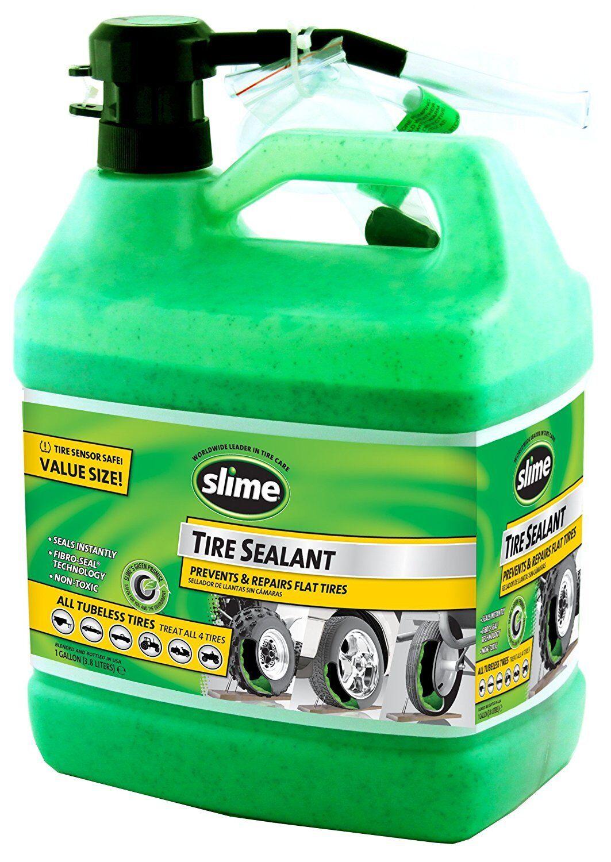 Flat Tire Repair Slime Sealant Green Tubeless Non Toxic