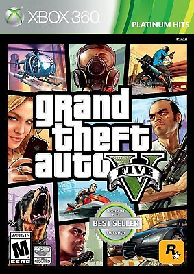 GRAND THEFT AUTO V  (XBOX 360, 2013)  (1245)     *****FREE SHIPPING USA*****
