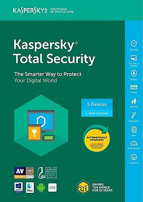 Used, New Kaspersky Total Security 2018 5 Device/1 Year [Key Code] (5-Users) for sale  Shipping to South Africa
