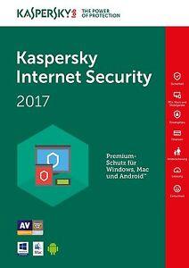 Kaspersky Internet Security 2017 - 1 PC / Gerät 1 Jahr / Lizenz per Email ESD