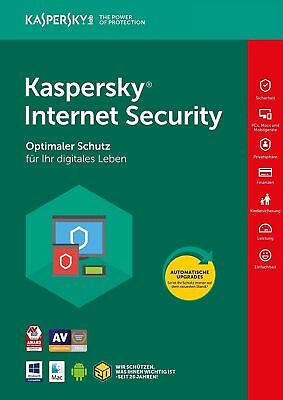 Kaspersky Internet Security 2018 3 PC 2 Jahre EU Deutch Antivirus /auch für