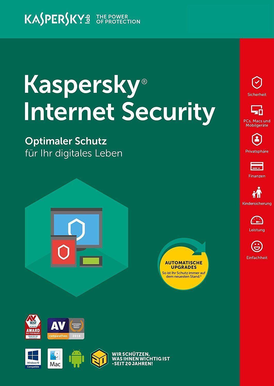 Kaspersky Internet Security 2018 (1PC,2PC,3PC,5PC / Geräte | 1 Jahr/ 2 Jahre)