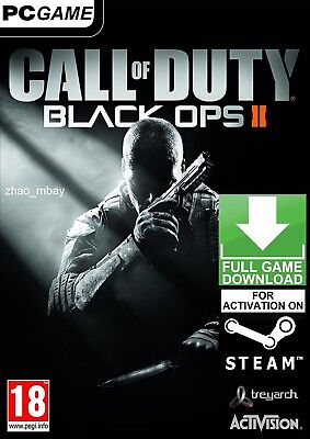 Call Of Duty Black Ops Ii 2 With Zombies  Pc Global Steam Game  No Cd Dvd  Fast