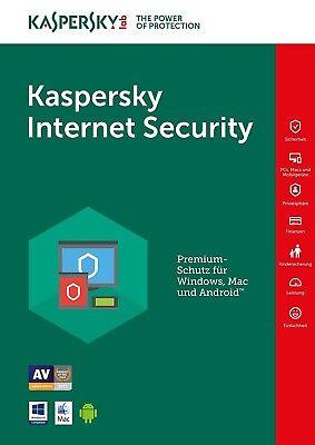Kaspersky Internet Security 2018 1PC/Gerät 1Jahr Vollversion Lizenz Key Download
