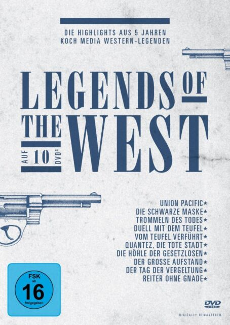 DVD LEGENDS OF THE WEST - 10 DISC-BOX-SET - KOCH MEDIA WESTERN LEGENDEN * NEU *