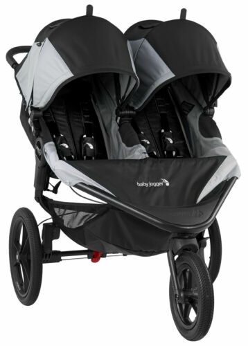 Baby Jogger Summit X3 Twin Double All Terrain Jogging Stroller Black / Gray