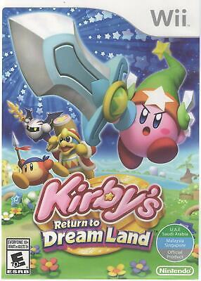 Kirby's Return to Dream Land (Nintendo Wii) Brand New Import Region Free