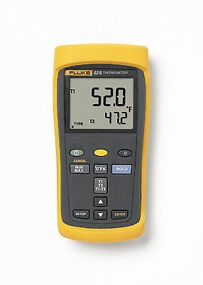 Fluke 52-2 52-ii 60hz Dual Input Digital Thermocouple Thermometer