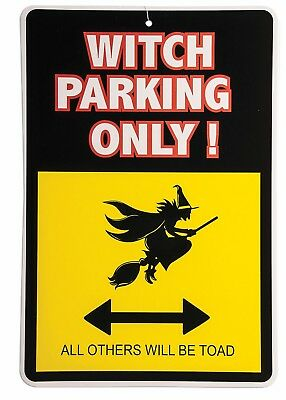 Witch Brooms (Witch Parking Only - No Parking Broom Lane Halloween Sign)