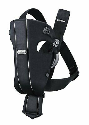 BabyBjorn Original Infant Carrier Black Cotton Baby 8-25 lbs