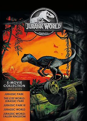Jurassic World: 5-Movie Collection (DVD, 2018, 5-Disc Set) w/Slipcover