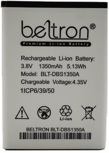 Replacement Battery DBS-1350A fits Doro 7050 Consumer Cellular Flip 1350 mAh