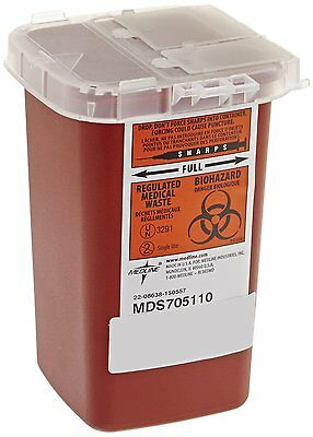 1 Quart Sharps Container Biohazard Needle Disposal Tattoo - Ships Free