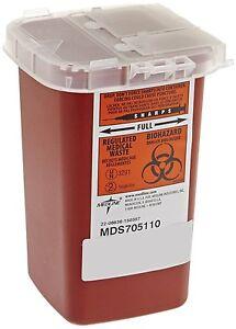 Medline 1 Quart Sharps Container Biohazard Needle Disposal Tattoo - SHIPS FREE!
