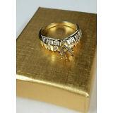 1.21Ct Round-Cut Diamond Engagement Semi Mount Ring In 14K Yellow Gold Finish