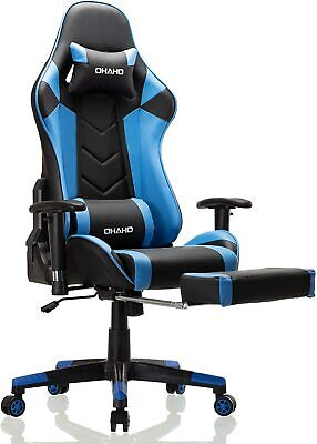 Ohaho Gaming Chair Racing Style Office Chair Adjustable Massage Lumbar Cushion S