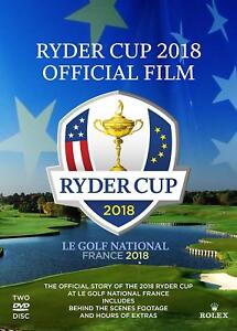 2018 Ryder Cup Official Film and Behind the Scenes DVD   IN STOCK & SHIPPING