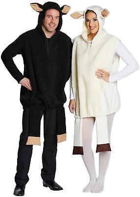 Weißes Schwarzes Schaf Lamm Karneval Fasching Kostüm S-XL