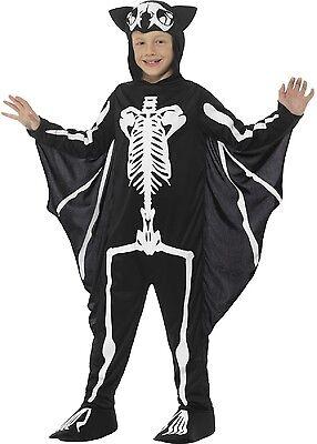 Jungen Mädchen Halloween Fledermaus Skelett Wings Kostüm Kleid Outfit 4-12 Jahre