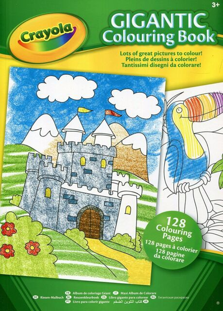 CRAYOLA GIGANTIC CHILDRENS COLOURING BOOK 128 PAGES FOR KIDS AGES 3+