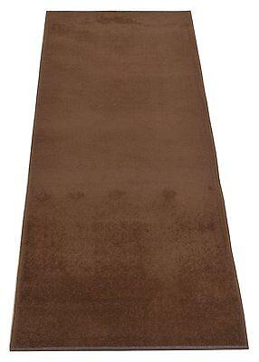 Custom Size Solid Brown indoor Roll Runner Rug Soft Rug Non Skid Slip Resistant - Carpet Runner Rolls