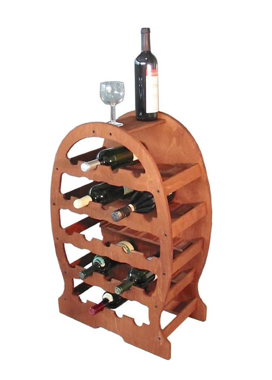 Mobile Porta Bottiglie Cantinetta Vino In Legno 23 Posti Botte Per