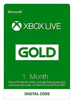 Xbox Live Gold 1 Month Membership Xbox One / Xbox 360 - INSTANT DELIVERY