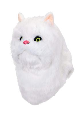 White Cat Mask Mouth Mover Kitty Animal Fancy Dress Halloween Costume Accessory - Halloween Cat Mouth