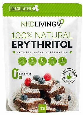 100% Natural Erythritol 1 Kg.2 lb Granulated Zero Calorie Sugar FREE UK...