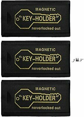 3 Piece Value Pack 3 Inch Plastic Magnetic Hide-a-key Holder. Lock Box Key-...