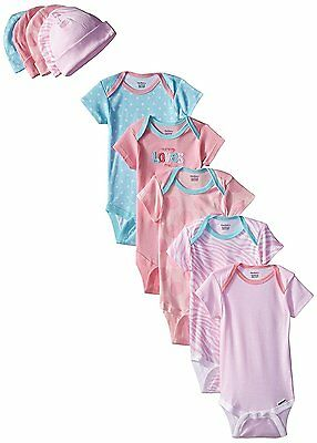 Gerber Baby-Girls 10-Piece Newborn Love Onesies and Cap Bundle Gift Set, 0-6M