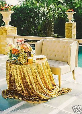 Sale Gold 48'' Round Sequin Table cloth Cover For - Party Tables For Sale
