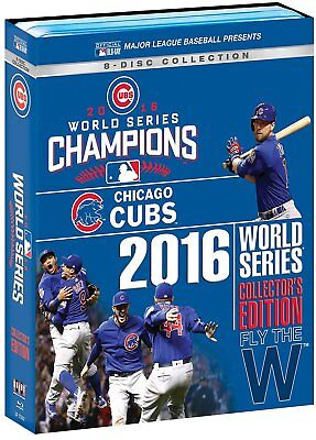 Chicago Cubs Mlb 2016 World Series Collectors Edition Blu Ray   New 8 Disc Set