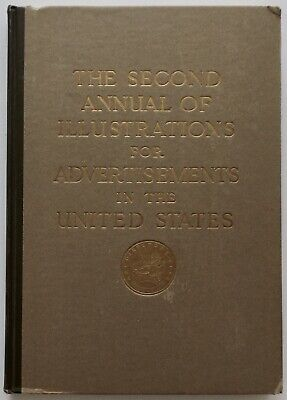 Vintage 1922 2nd Annual of Illustrations for Advertising Yearbook, Art Deco NYC