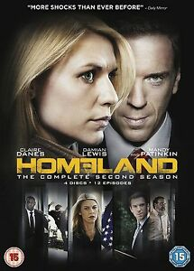 Homeland-Series-2-Complete-DVD-2013-4-Disc-Set-Box-Set