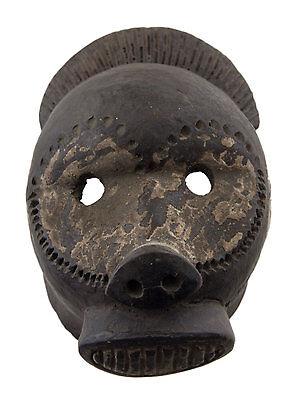 Mask Diminutive African Passport Miniature Earth Cotta Divination 6460 Q1