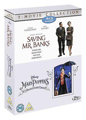Saving Mr Banks   Mary Poppins 2 Movie Collection  Blu Ray Box Set  Region Free