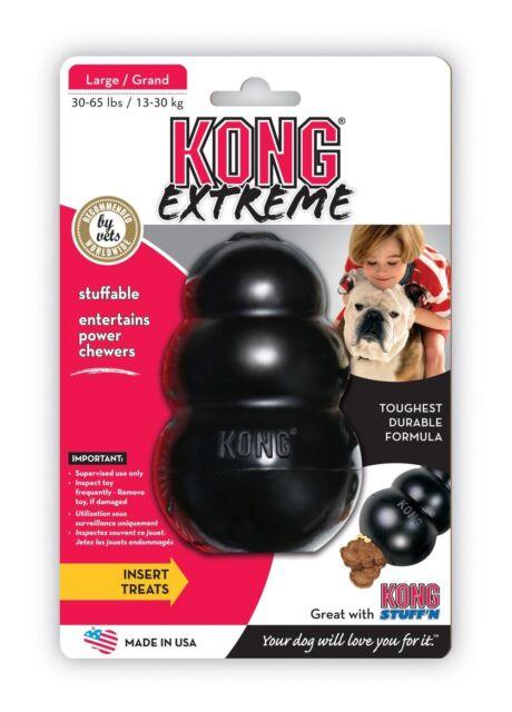 EXTREME TOUGH LARGE BLACK KONG DOG TOY BOREDOM BREAKER