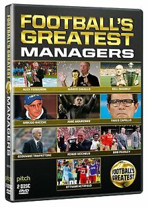 Football's Greatest Managers [DVD] NEU Beste Fußball Trainer Mourinho, Hitzfeld