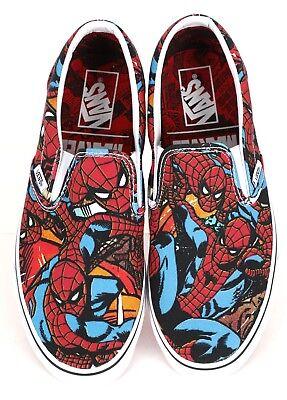 Vans x Marvel SPIDERMAN Slip-On Shoes (NEW) Mens Sizes 4-13 SPIDER MAN Free Ship - Spiderman Vans