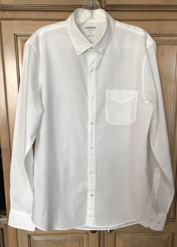 Bonobos Tailored Slim Fit Button Up Dress Shirt Cotton Medium M Lightweight