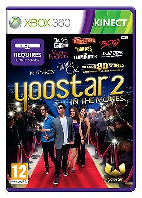 Xbox 360 Kinect Yoostar 2 In The Movies Game - New and Factory Sealed