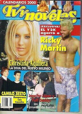 CHRISTINA AGUILERA RICKY MARTIN Spanish TV Y NOVELAS Mag 2000 JENNIFER LOPEZ