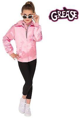 Child 50s Black Licensed Grease Pink Ladies Costume Leggings