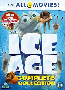 Ice Age 1-5 plus a Mammoth Christmas Box Set [DVD]