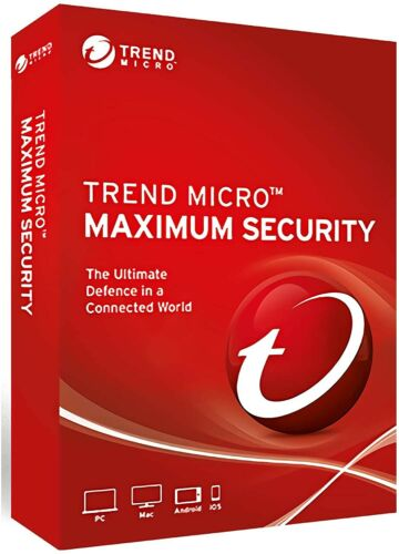 Trend Micro Antivirus Maximum Internet Security 2021 3Multi Device support 1Year