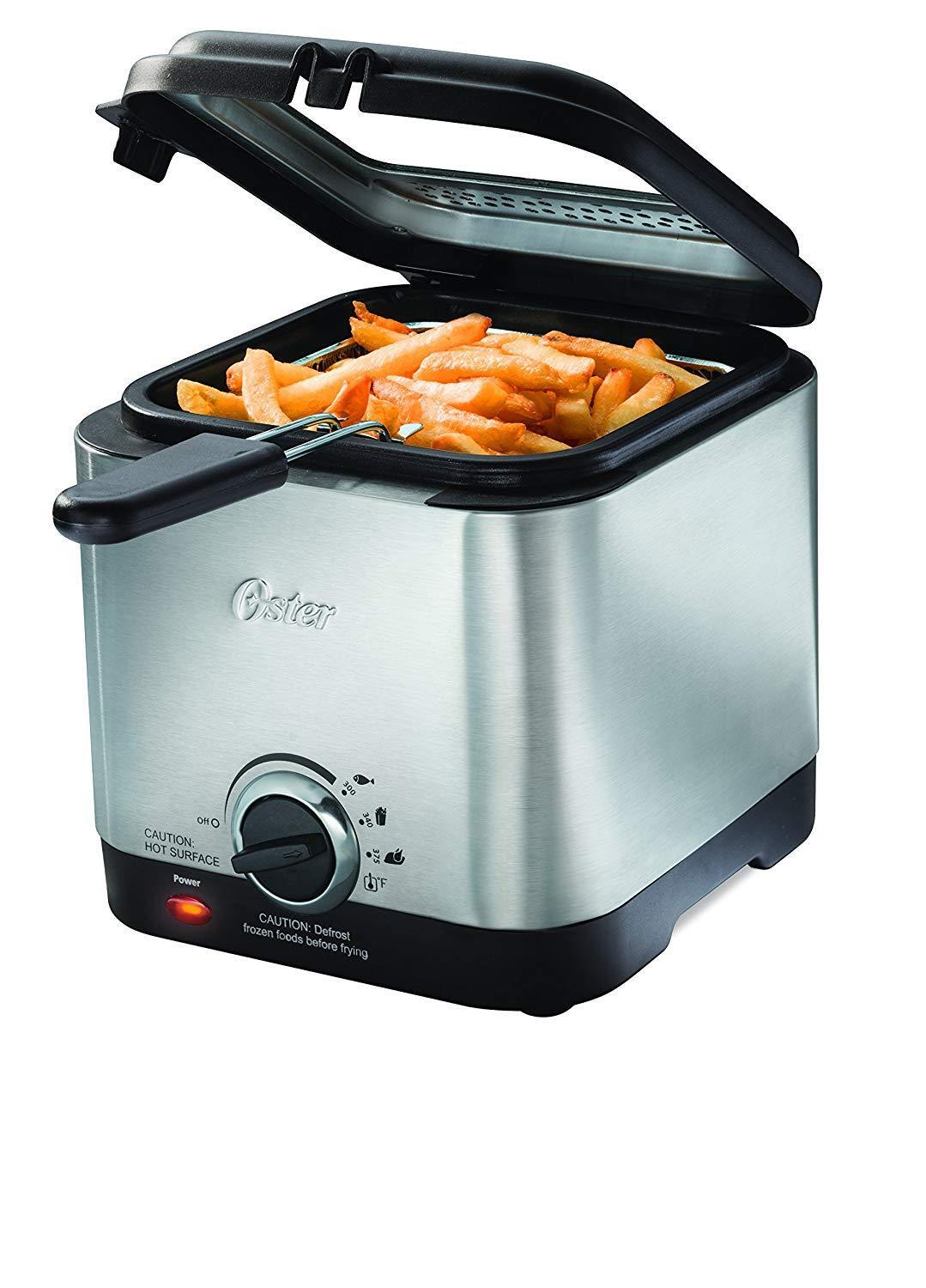 Oster Deep Fryer Stainless Steel Compact Small Mini Electric