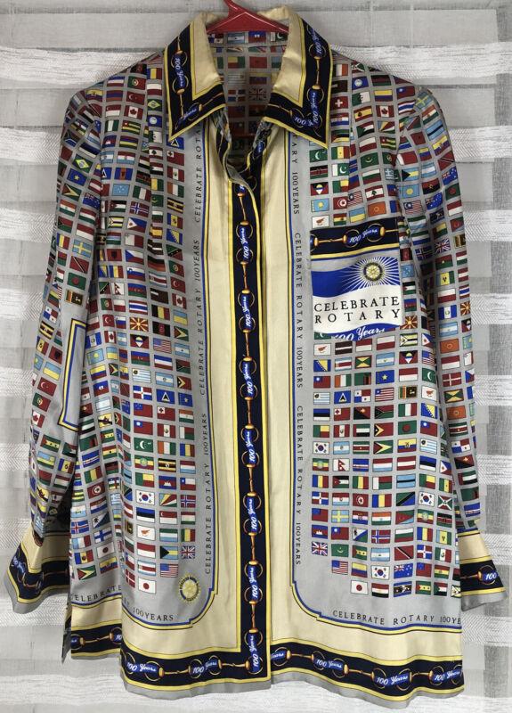 Rotary International 100 Years Shirt 100 Years Celebrate Rotary World Flags RARE