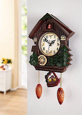 Kuckucksuhr Kuckucks Uhr Wanduhr braun Kunststoff 6364306  für Kinderzimmeruhr