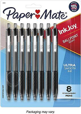 Paper Mate Inkjoy 300rt Retractable Ballpoint Pens Medium Point Black 8 Pack